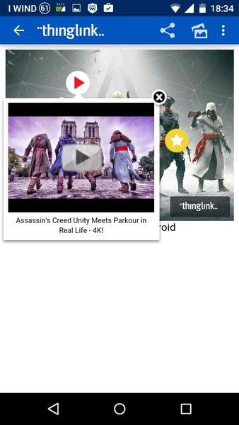 Un'icona con link ad un video di Youtube
