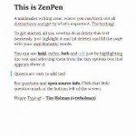 ZenPen.  Scrivere senza distrazioni.