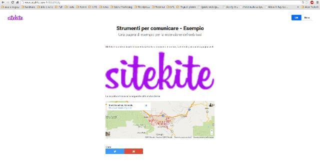 Il sito realizzato con Sitekite