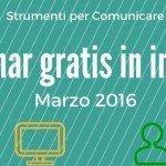 Webinar gratis in inglese. Marzo 2016