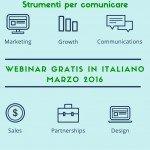 Webinar gratis in italiano. Marzo 2016.