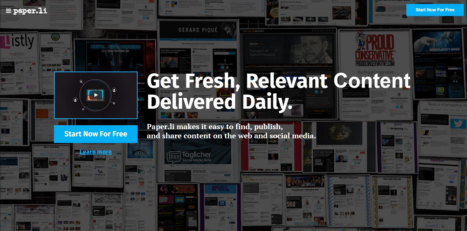Come creare un giornale online con Paper.li