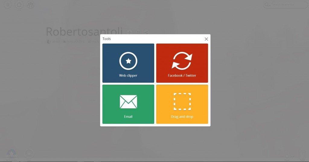 I Tools sono strumenti aggiuntivi che ampliano le funzionalità di Pearltrees