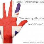 Webinar in inglese gratis. Maggio 2016