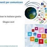 Webinar gratis in italiano. Giugno 2016