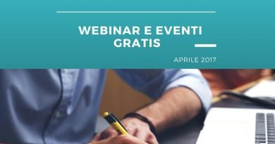 Webinar ed Eventi gratis. Aprile 2017