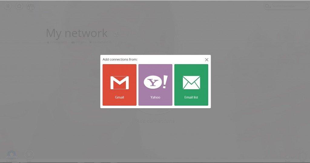In My Network possiamo aggiungere i nostri collaboratori