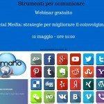 Webinar gratuito – 12 maggio – Social Media – Strategie per migliorare il coinvolgimento