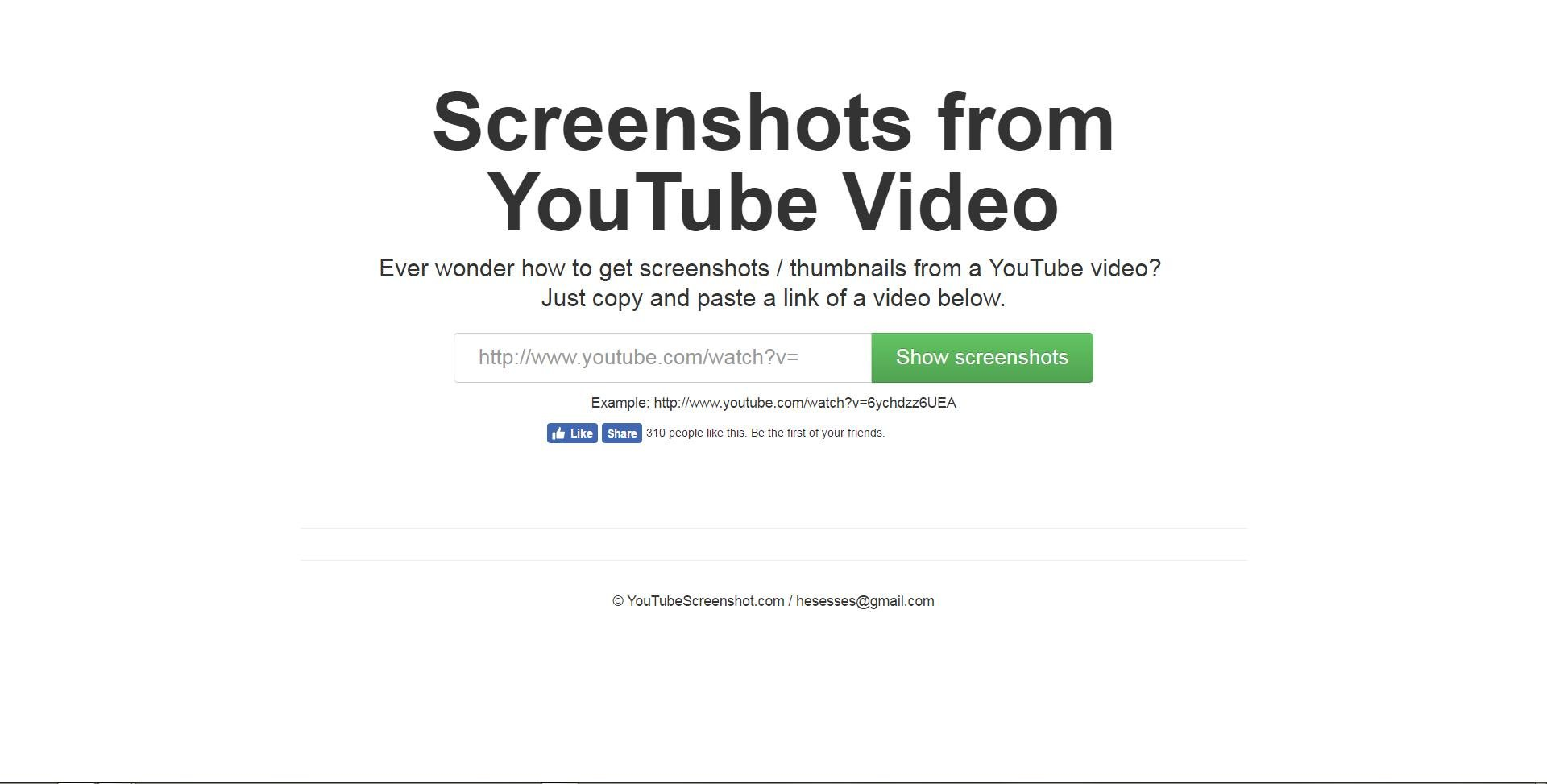 Youtube Screenshots - home page