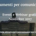 Eventi e Webinar gratis. Novembre 2017