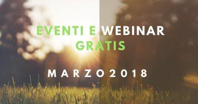 Eventi e Webinar gratis. Marzo 2018
