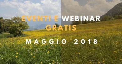Eventi e Webinar gratis. Maggio 2018